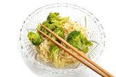Fancy Ramen Noodles with Chop Sticks — Stock Photo