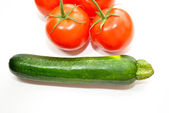 Healthy Summer Zucchini and Tomatoes — Stock Photo
