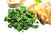Nutritious Spinach as a Delicious Side Dish — Foto de Stock