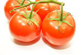 Ripe Tomatoes Isolated Over White — Stock Photo