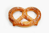 A Delicious Baked Soft Pretzel Over White — Stock Photo