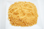 Seasoned Panko Bread Crumbs on a Plate — Stockfoto