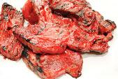 Grillade kinesiska sås på grillade revbensspjäll — Stockfoto