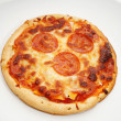 Personnal Size Pepperoni Pizza Served on a Plate — Stock Photo #49288997