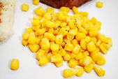 Yellow Corn Served as a Side Dish — Stock Photo