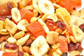 Organic Fruity Trail Mix as a Tasty Background — Stock Photo