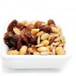 Nutty Trail Mix in a White Square Bowl — Foto de Stock