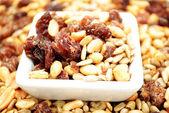 Mixed Nut Trail Mix with Raisins — Stock Photo