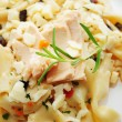 Tuna Fish on Top of Bowtie Pasta Salad — Stock Photo #51282853