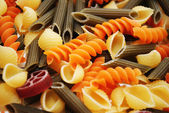 Gourmet Pasta Shapes Made with Organic Vegetables — Stock Photo