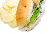 Lunch of Tuna Sandwich with Potato Chips — Stock Photo