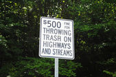 Sign For Illegal Trash Disposale — Stock Photo