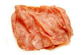 Pastrami Luncheon Meat Isolated on a White Background — Stock Photo