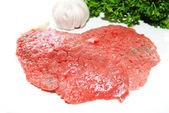 Cube Steaks with Fresh Herbs — Stock Photo