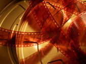 35mm motion picture film — Stock Photo