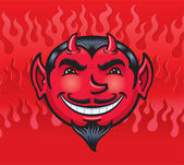 Smiling Devil Face — Stock Photo