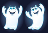Two Happy Ghosts Floating in the Air — Stock Photo