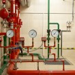 Stock Photo: Fire sprinkler control system