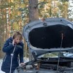 Winter car breakdown — Stock Photo #41052887