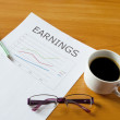 Stock Photo: Earnings chart