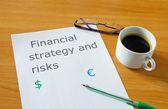 Financial strategy — Stock Photo