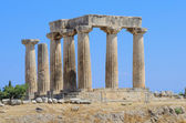 Doric temple of Apollo in Corinth — Stock Photo