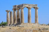 Doric temple of Apollo in Corinth — Stock Photo
