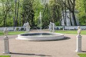 Fountain in Łazienki Park — Stock Photo