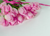 Bunch of pink tulips — Stock Photo
