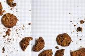 Chocolate cookies recipe — Stock Photo
