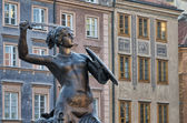 Warsaw mermaid — Stock Photo