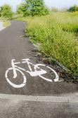 Cykel vägmärke — Stockfoto