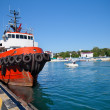 Stock Photo: Ship moored in port