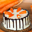Stock Photo: Low fat carrot cake