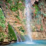 David's waterfall at Ein Gedi Nature Reserve — Stock Photo