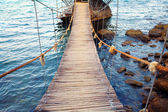 Rope bridge — Stock Photo