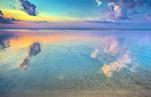 Magic sunset over seashore — Photo