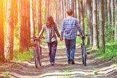Para z rowerów — Zdjęcie stockowe