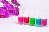 Colorful nail polish for manicure — Stockfoto