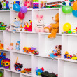 Cupboard with toys — Stock Photo