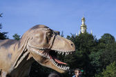 Dinosaur in the city — Foto Stock