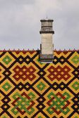 Polychrome roof of the Hospices de Beaune — Stock Photo
