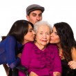 Stock Photo: Loving grandchildren
