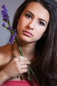 Beautiful young woman — Stok fotoğraf