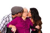 Loving grandchildren — Stockfoto