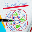 Project Management Success Diagram — Stock Photo