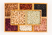 Boxes of beans — Stock Photo