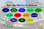 Business Metrics Diagram — Stock Photo