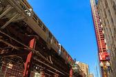 Chicago commuter train — Stock Photo
