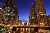 Chicago riverwalk — Foto de Stock